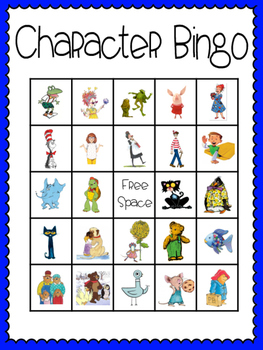 This is a graphic of Resource Character Bingo Template