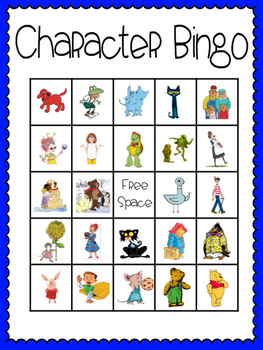 Character Bingo (30 completely different cards & calling cards included!)