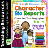 Character Biography Reports | Digital and Printable Biography Writing Resources