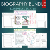Biography Graphic Organizer Journal Template Research BUNDLE