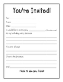 Character Birthday Invitation