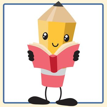 Character Bits - Reading Books with Hands to Add to Characters Clip Art