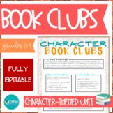 Character Trait Book Clubs / Literature Circles - EDITABLE #DistanceLearningTpT