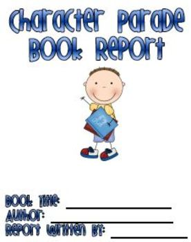 Character Book Report With Cover Page
