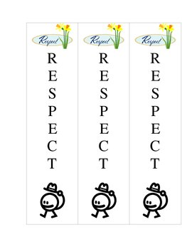Character Bookmark (Respect)
