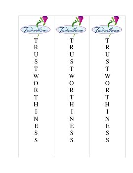 Character Bookmark (Trustworthiness)