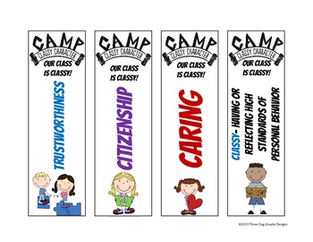 Character Bookmarks - Camp Classy Character - Printable