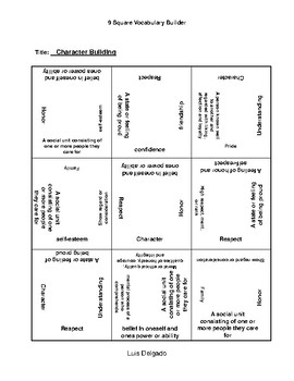 Character Building  9 Square