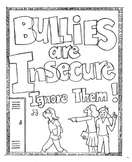 "Character Building Activity ""Bullies"" Coloring Sheet"