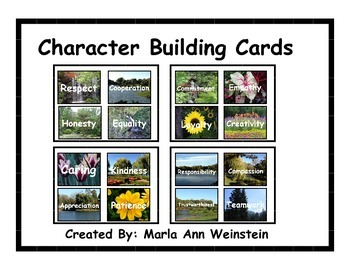 Character Building Cards