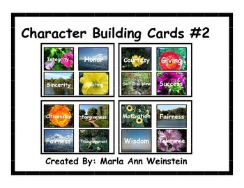 Character Building Cards #2