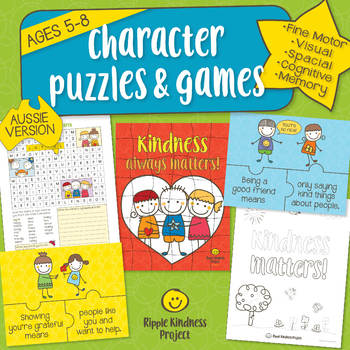 Character Building Puzzles, Games, Spot the Difference & More - A4 Format