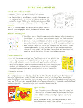 Back to School Character Building Puzzles, Games, Spot the Difference -US Letter