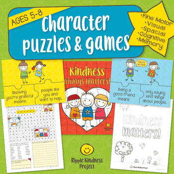 Character Building Puzzles, Games, Spot the Difference - US Letter