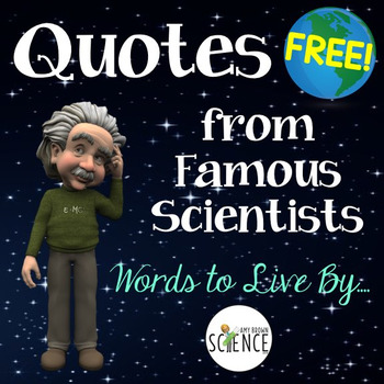 Character Building Quotes from Famous Scientists Mini Posters