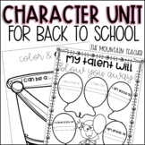 Character Building Unit   10 Back to School Get to Know Yo