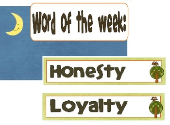 Character Building Word of the Week, Camping Themed