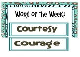 Character Building Word of the Week, Leopard Themed