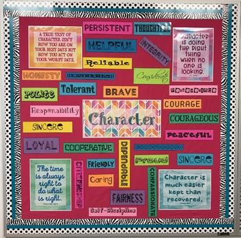 Character Bulletin Board - Character Education