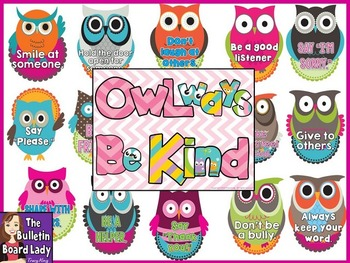 Character Bulletin Board OWLways Be Kind