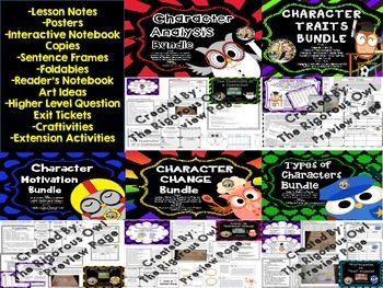 Character Bundle Motivation, Change, Traits, Analysis, and Types of Characters