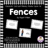 Character Card Sort Memory Review Game for Fences by August Wilson