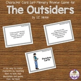 Character Card Sort Memory Review Game for The Outsiders by S.E. Hinton