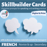 Character Cards for Speaking Practice - All About Me Skill