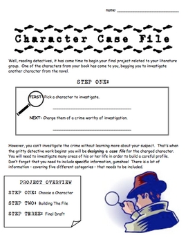 Character Case File - Reading - Book Project