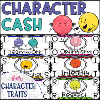 Character Cash Positive Behavior Incentives for Character Education {31 Traits}