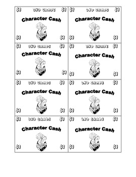Character Cash Reward System
