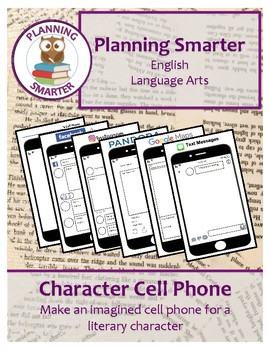 Character Cell Phone - Make an imagined cell phone for a literary character