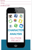 Character Cellphone Book Report Literary Analysis Middle H