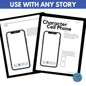 Character Cellphone: Characterization Activity for Any Story or Novel