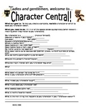 Character Central Brainstorming Organizer