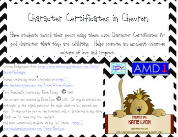 Character Certificates in Chevron