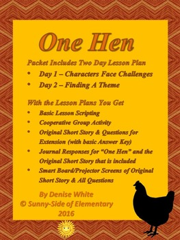 """Characters and Themes with Read Aloud: """"One Hen"""""""