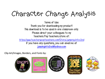 Character Change Analysis