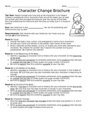 Character Change Book Brochure, Rough Draft Checklist, and CCLS Aligned Rubric
