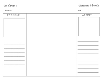 Character Change Foldable - Fiction Reading Response