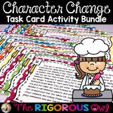 Character Change Task Card Activity Bundle