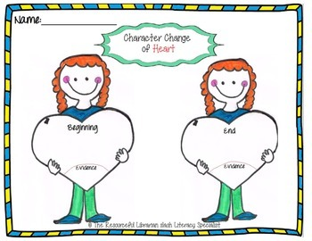 Character Change of Heart Character transformation Guided Reading