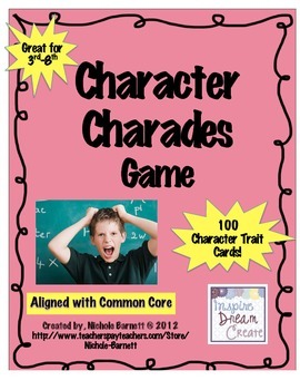 Character Charades Game (3rd-8th)