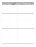 Character Chart for Novel Study Notes - Graphic Organizer