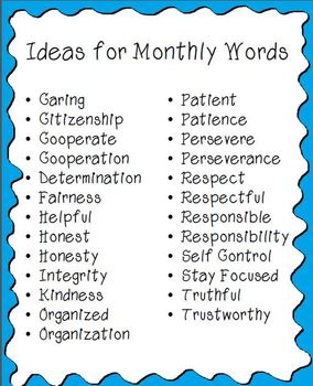 Character Clip Chart- Celebrate Kids with Good Character and Positive Behavior