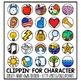 EDITABLE Character Clip Chart / Positive Clip Chart Alternative