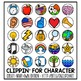 EDITABLE Character Clip Chart / Positive Clip Chart Alternative