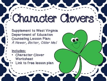 Character Clovers: Supplement for WV Counseling Curriculum