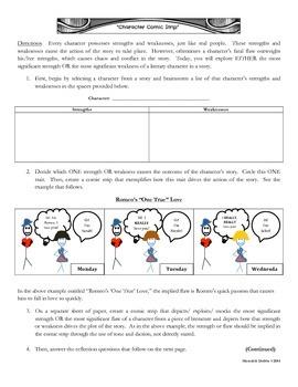 Characterization FREEBIE: Comic Strip Analysis {COMMON CORE}