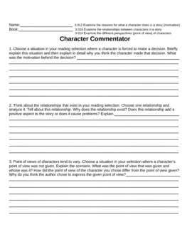 Character Commentator